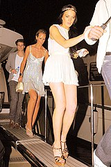 Lindsey Lohan on high heels